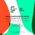Locandina Jazz Nos Fundos con Nicola Conte, Partipilo + Boom Collective e Gabriele Mirabassi con Di Modugno e Balducci