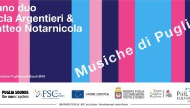 Locandina Musiche di Puglia di Tecla Argentieri e Matteo Notarnicola