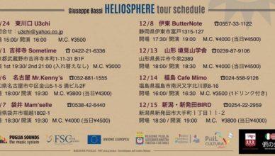 Locandina Tour Heliosphere con Giuseppe Bassi