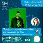 """Locandina Masterclass """"Tecniche e prassi compositive per la musica da film"""" tenuta da Claudio Simonetti"""